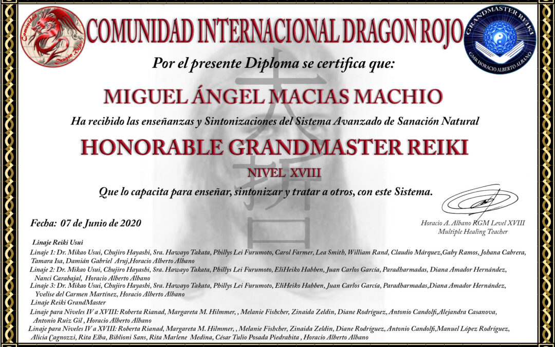 Honorable GrandMaster Reiki